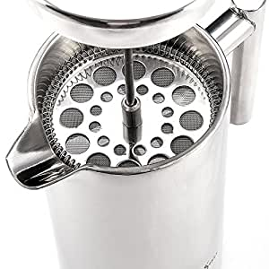 French Press Coffee Maker-1 Litre Dual Wall Stainless Steel - Specialty Coffee of Noosa