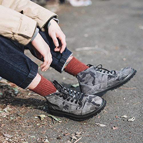LOVDRAM Stiefel Männer Winter Herrenmode Herrenmode Winter Lässig Camouflage Stiefel Leder Hohe Hilfe Martin Stiefel Camouflage Schuhe d3d885