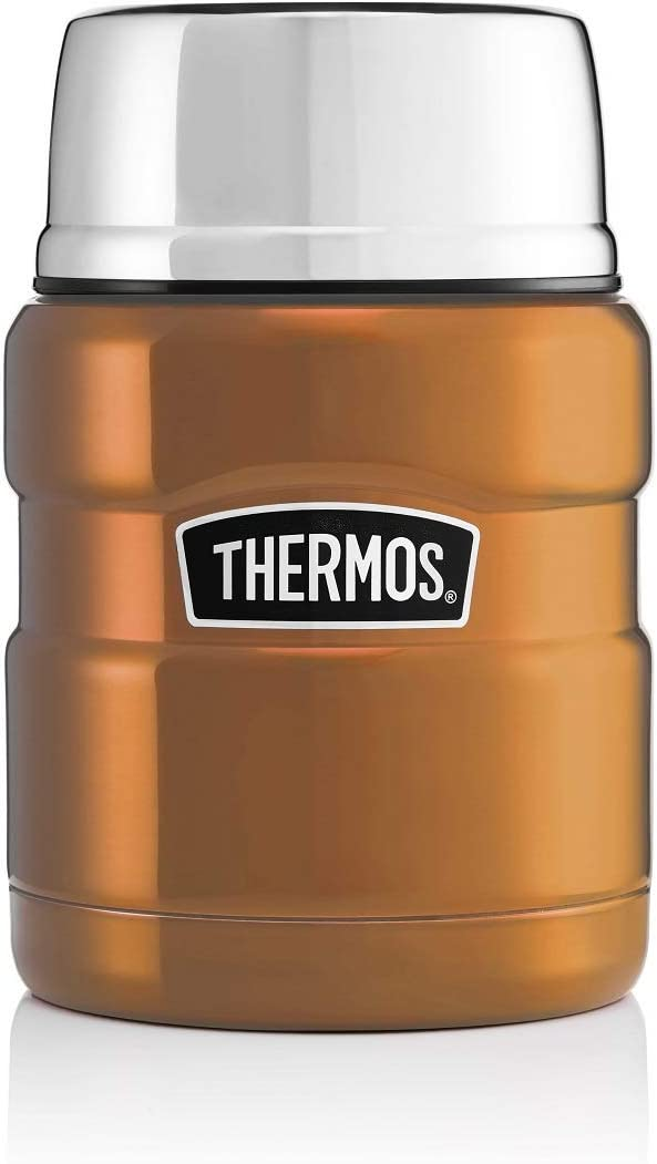 Thermos King Vacuum Insulated Food Flask 470ml Racing Green Travel Cup