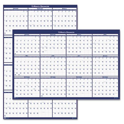 House of Doolittle Laminated Poster Style Reversible/Erasable Calendar, 24 x 37 by House of Doolittle