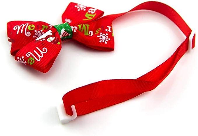Bonito disfraz de Navidad para mascotas con cuello de corbata ...