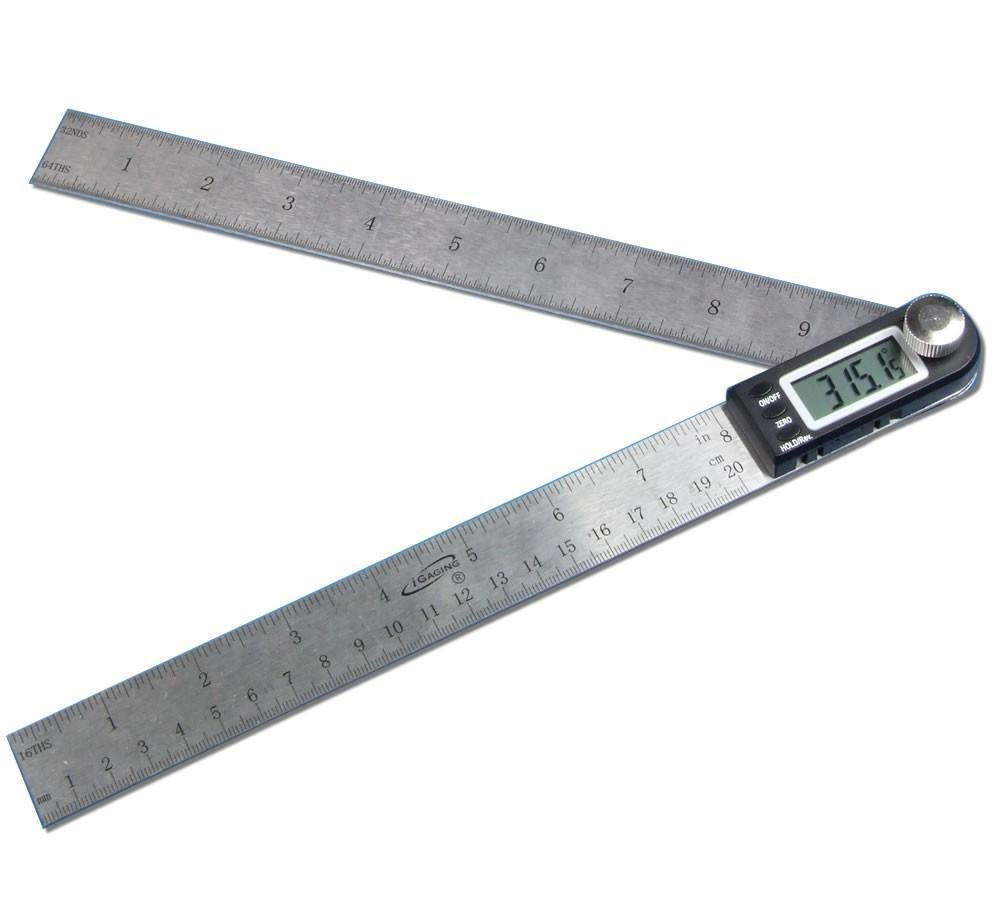 Igaging 10in 250mm 360 Degree Digital Angle Rule Ruler Finder Protractor 2 in 1