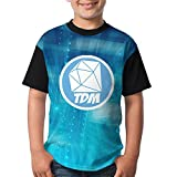 AOOIUU Diamond DanTDM Logo Customized Comfy T-Shirt Short Sleeve Tops for Kids Youth Boys and Girls