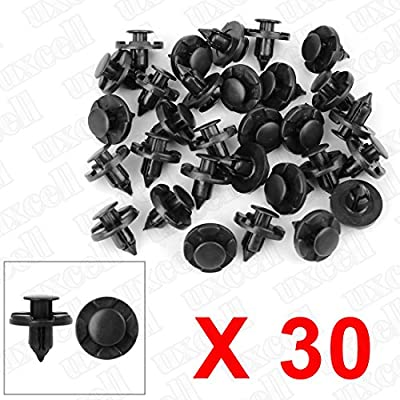 uxcell 30 Pcs 8mm Hole Retainer Clips- Plastic Drive Rivets Mud Flaps Bumper Fender Push Clips for Nissan: Automotive