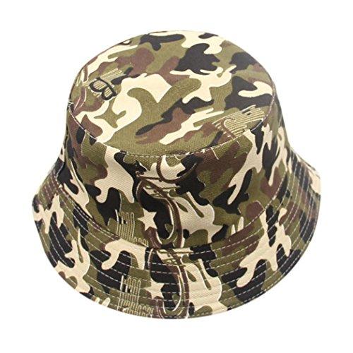 LtrottedJ Toddler Baby Kids Boys Girls Floral Pattern Bucket Hats Sun Helmet Cap (Army Green)