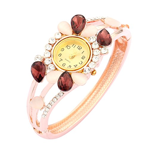 Bangle Watch for Women Butterfly Crystal Dress Crystal Bangle Wrist Watch Gift for Her