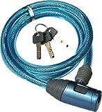 J&C(ジェイアンドシー) ワイヤーロック [JC-020WDX] ブルー φ10mm×900mm