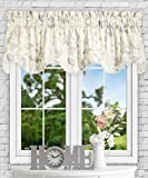 Simple Comfort Abigail Traditional Hydrangea Floral Print (Lined Scallop Valance, 70 x 17', Lilac)