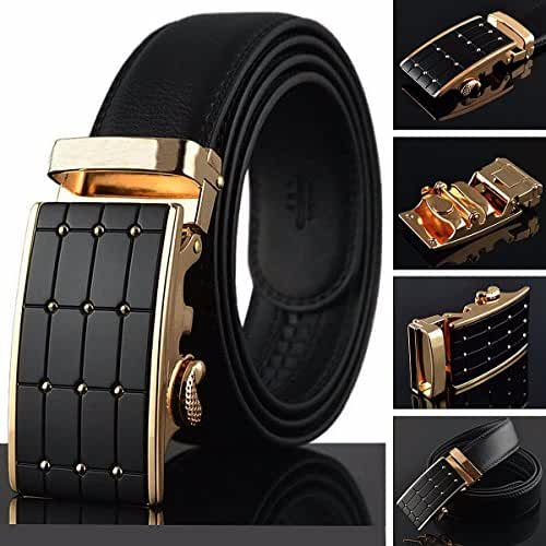 Leather Belts for Men,Charminer Leather Automatic Buckle Belts