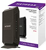 NETGEAR CM600 (24x8) DOCSIS 3.0 Cable Modem. Max download speeds of 960Mbps. For XFINITY by Comcast, Time Warner Cable, Cox, Charter & more (CM600-1AZNAS)