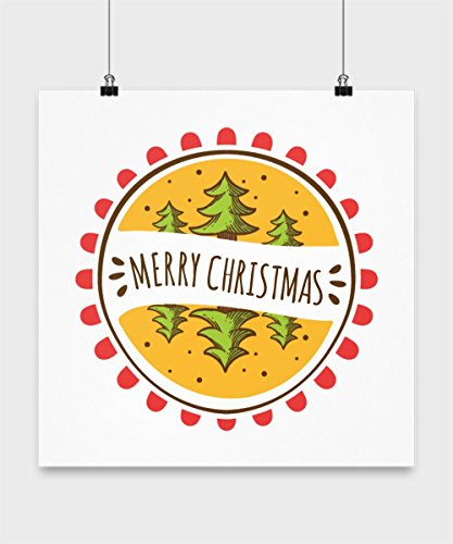 Christmas Tree Poster - Merry Xmas Coloring 24x36 Wall Large