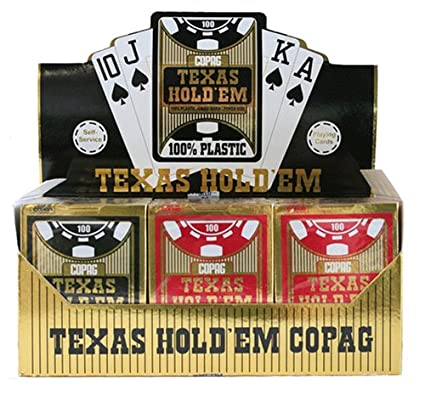 Amazon.com: 12 barajas de cartas Copag Hold EM Series 100 ...