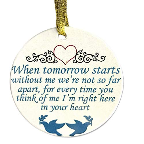 BANBERRY DESIGNS in Loving Memory Christmas Ornament - When Tomorrow Starts Without Me Saying - Memorial Christmas Ornament with Doves and Hearts (Ornaments Christmas Loving Memory)