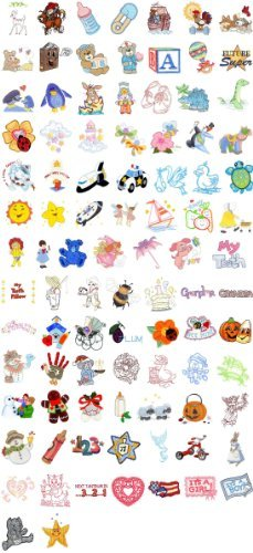 est of Embroidery Machine Designs CD baby 100 DESIGNS ()