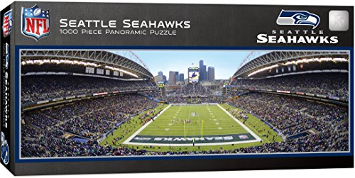 MasterPieces NFL Seattle Seahawks 1000 Piece Stadium Panoramic Jigsaw Puzzle