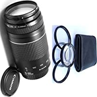 Canon 75-300mm III Zoom Lens + 4pc Macro Lenses Set (+1 +2 +4 +10)