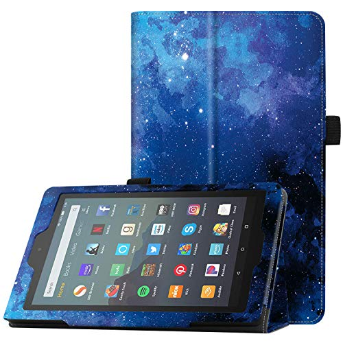 """Famavala Folio Case Cover Compatible with 7"""" Amazon Kindle Fire 7 Tablet (9th Generation, 2019 Release) (Blugaxy)"""