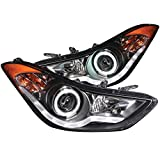Hyundai Elantra Headlight Front Left Driver & Right Passe...