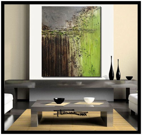 Modern Abstract Canvas Painting - Limited Edition Giclee - OF SERIOUS NATURE - 30 x 36 x 1.5 XL Ready to Hang. Direct from studio ELOISE - Nature Edition Limited Home Art