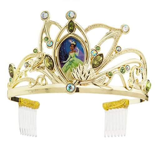Disney Tiana Tiara for Kids - The Princess and The Frog Gold]()