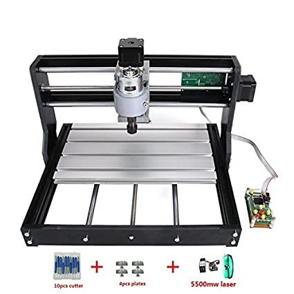 2-in-1 DIY CNC3018-PRO 3 Axis CNC Router Kit + 5500mw Laser Engraver
