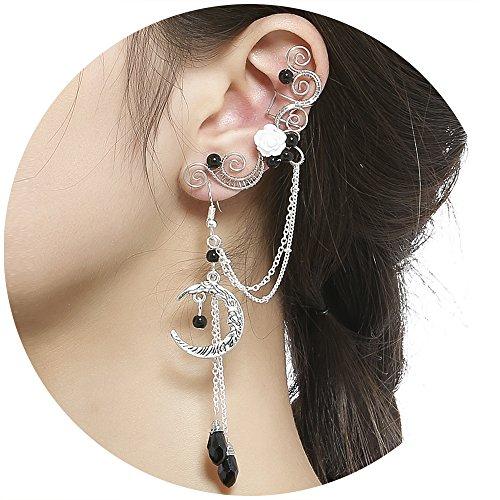 Dangle ear cuffs for non pierced ears