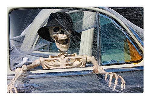 Tree26 Indoor Floor Rug/Mat (23.6 x 15.7 Inch) - Skeleton Decoration Halloween Death Crushed ()