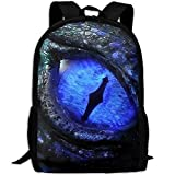 Popular Boys Daypack Backpacks For High School Blue Mysterious Dragon Eye