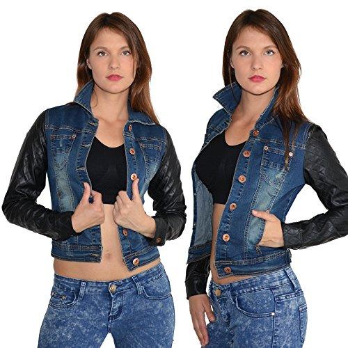 Jeans Femme M81 tailles by manches veste rex longues grandes M03 wqnEAE5Sxg