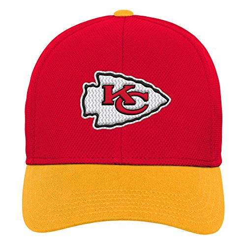 Outerstuff NFL NFL Kansas City Chiefs Youth Boys Velocity Structured Snap Hat Red, Youth One Size
