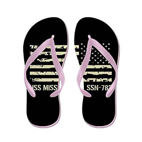 Cafepress Uss Mississippi - Flip Flops, Roliga Rem Sandaler, Strand Sandaler Rosa