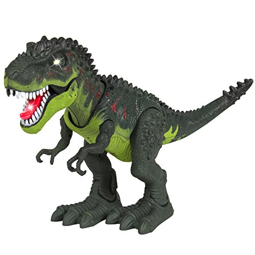 [Kids Toy Walking Dinosaur T-Rex Toy Figure With Lights & Sounds, Real Movement] (Realistic Animatronic Dinosaur Costume)