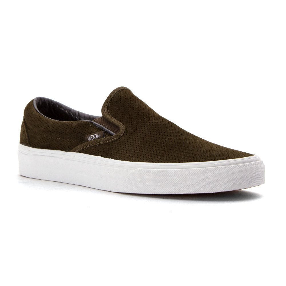 Vans Unisex-Erwachsene Classic Slip-on Low-Top  7.5|(Perf Suede) Tarmac/True
