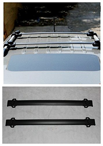 FMtoppeak 2pcs Roof Rack Cross Bars with Vertical Side Bars Luggage Rack for Jeep Renegade 2014 UP
