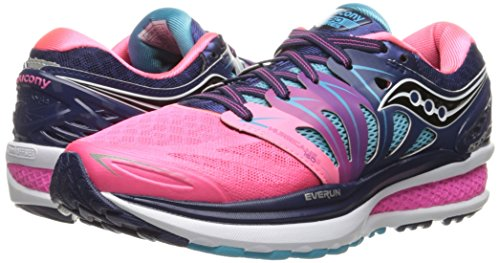 Saucony Women's Hurricane ISO 2 Running Shoe, Blue/Pink, 8 M US by Saucony (Image #4)