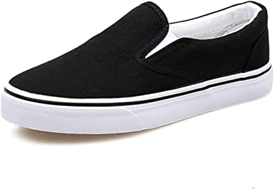 Womens Slip-on Loafer Stripe Fashion Sneaker Casual Flat Walking Shoes Canvas