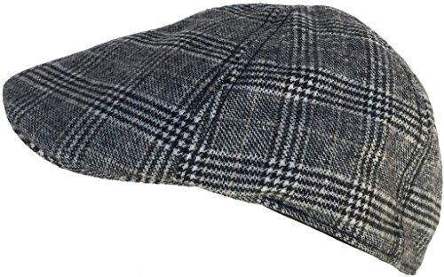 Chapeau de pilote de canard de Billard de canard de laine (noir Plaid / M / L)