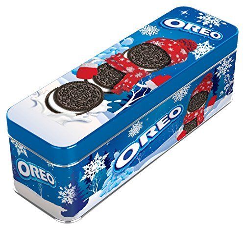 Oreo Chocolate Sandwich Cookies Holiday Tin, 4 Ounce (Pack of 12)