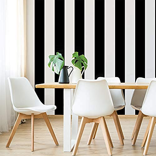 Tempaper ST318 Mini Stripe Removable Peel and Stick Wallpaper, 4.1