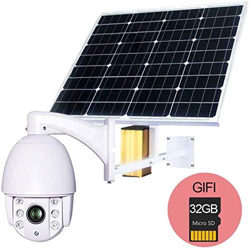 BD.Y 60W Panel Solar Cámara IP WiFi 1080P HD 3G 4G Tarjeta ...