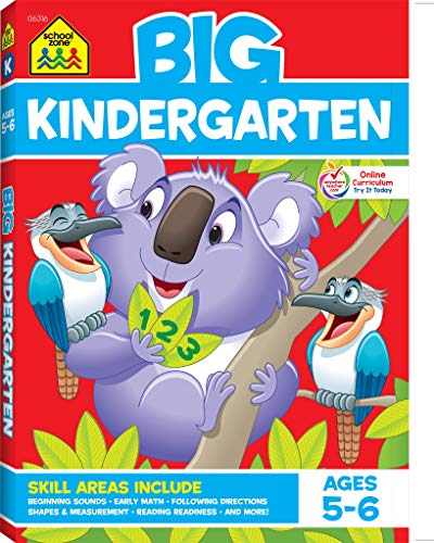 School Zone - Big Kindergarten Workbook - Ages 5-6, Early Reading and Writing, Numbers 0-20, Matching, Story Order, and More (School Zone Big Workbook Series)