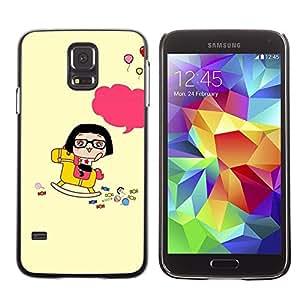 LECELL -- Funda protectora / Cubierta / Piel For Samsung Galaxy S5 SM-G900 -- Cute Happy Rocking Horse --