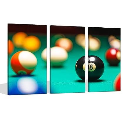 Amazon.com: Visual Art Decor Large Playing Pool Table Billiard Balls ...