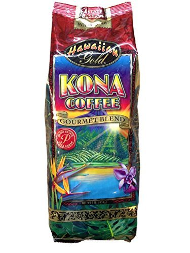 Gourmet Blue Coffee Mountain - Hawaiian Gold Kona Coffee, Ground Estate Reserve 2 x 10 oz Bags