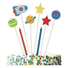 amscan 11011859 - Juego de velas de cumpleaños (8 unidades), diseño de espacios, color