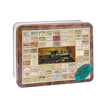 Channel Craft Puzzle Tin Ticket To Ride 550 Piece Jigsaw Puzzle