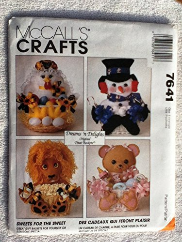 Doll Baskets for Easter or Anytime McCAll's Crafts Super Pattern New Uncut