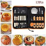 Carving Tool, Elevin(TM) 13pcs Halloween Pumpkin Carving Tool Kit Set Kitchen Fruit Carve Cutter Tool Set