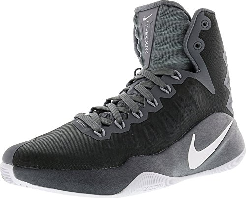 NIKE Men's Hyperdunk 2016 Cool Grey/White Wolf High-Top Basketball Shoe - 10M