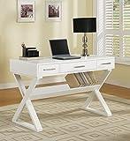 Coaster Desk, White